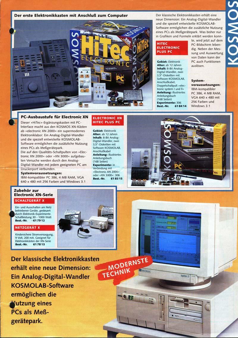 das experimentierkasten board thema anzeigen kosmos prospekt electronic xn ca 1993. Black Bedroom Furniture Sets. Home Design Ideas